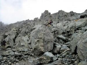 Ключевой момент спуска в перевала