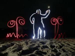 Ночные креативные игры в окрестностях Хужира