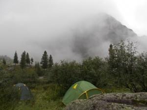 Туман над Мраморным озером