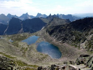 Озера Восьмерки под вершиной Перевальная