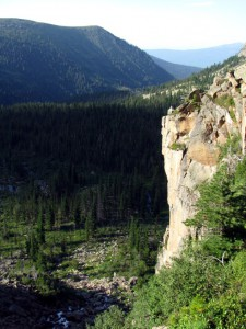 Вид от водопада Богатырь на север