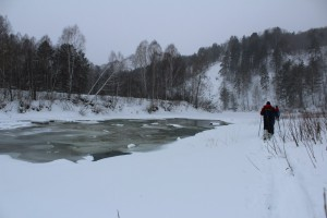 По Берди на лыжах