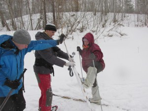 Чистка лыж